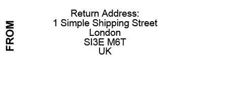 simple merchant return address