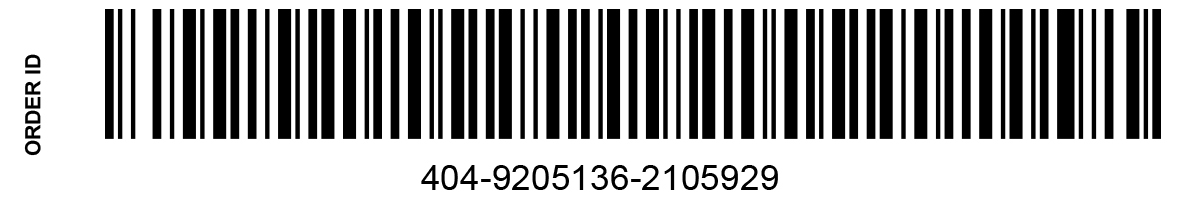 simple merchant order barcode