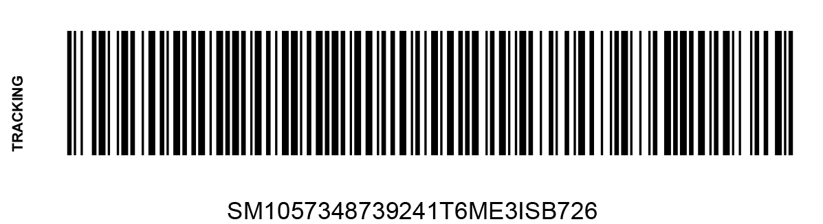 simple merchant tracking barcode