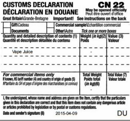 Automate CN22 customs forms