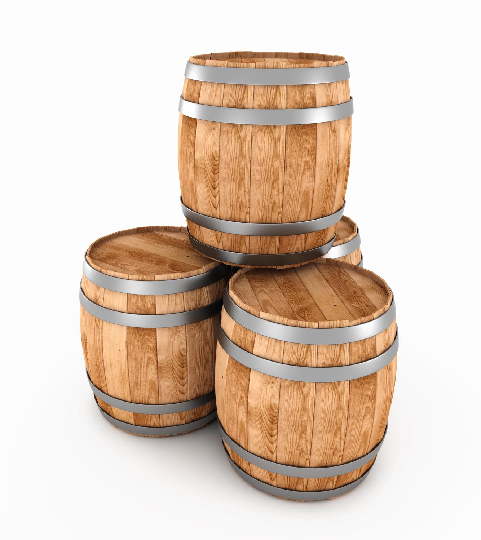 White oak barrels for bourbon whiskey cognac craft beer