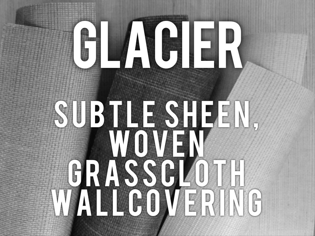 Glacier - subtle sheen woven grasscloth wallcovering