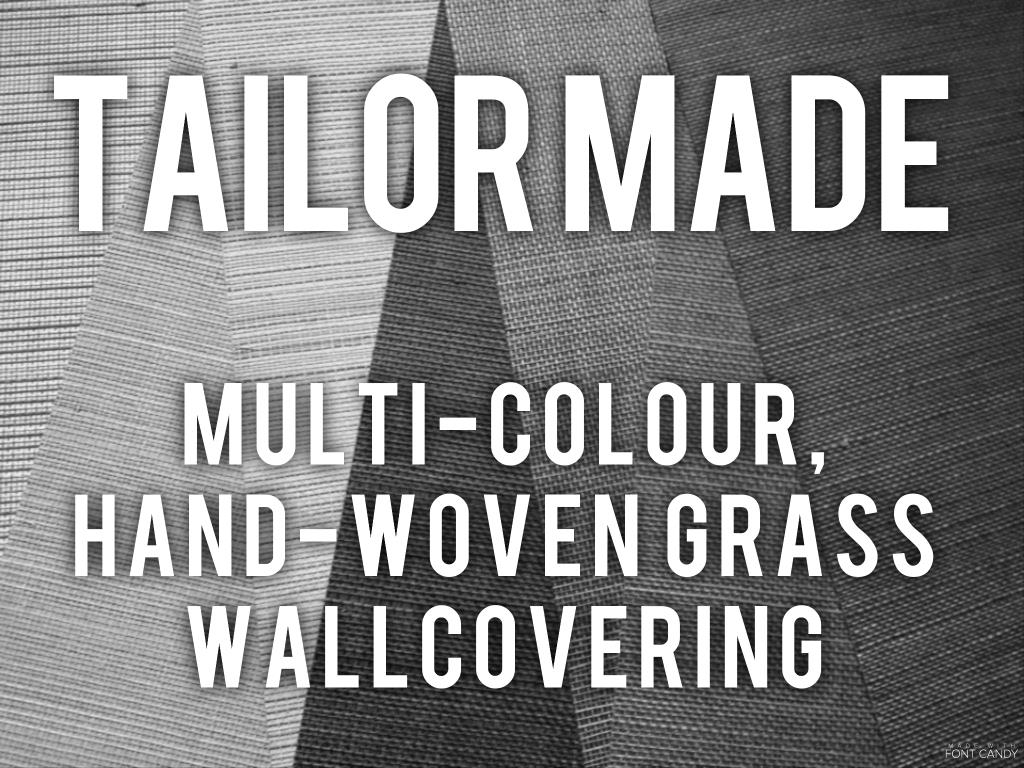Tailor made - multi colour hand woven grass wallcovering