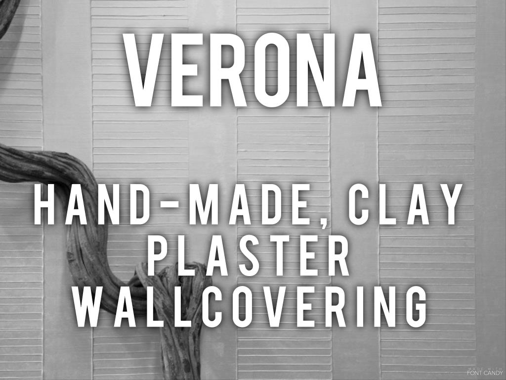 Verona - hand-made clay plaster wallcovering