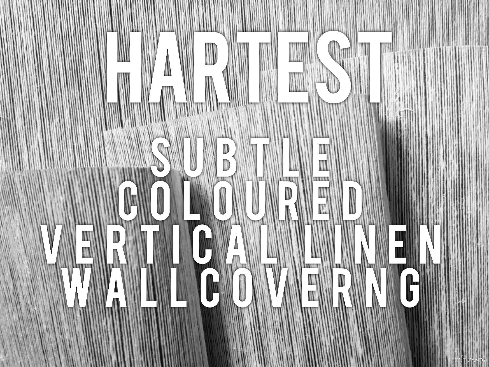 Hartest - Subtle coloured vertical linen wallcovering