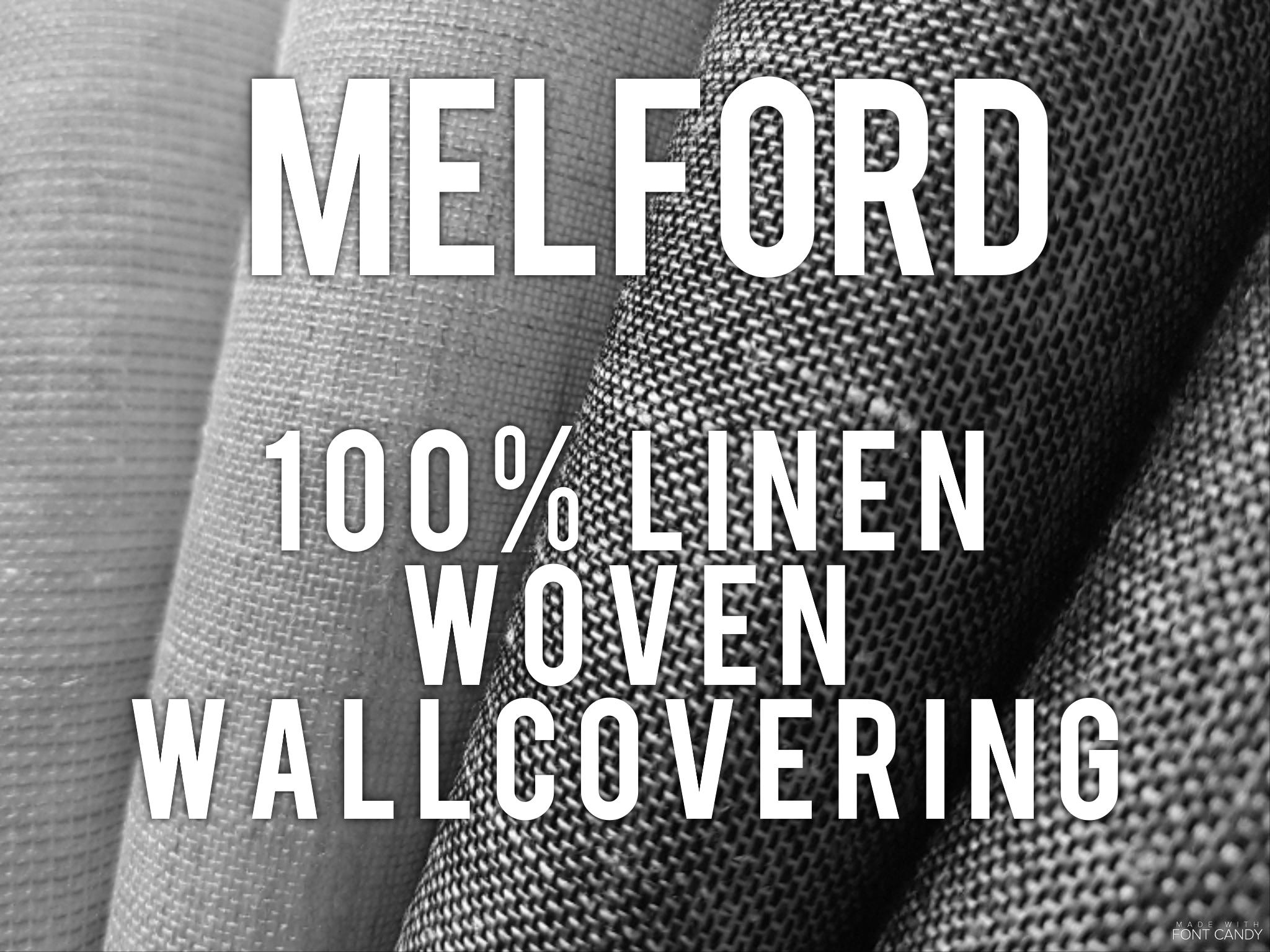 Melford - 100% linen woven wallcovering