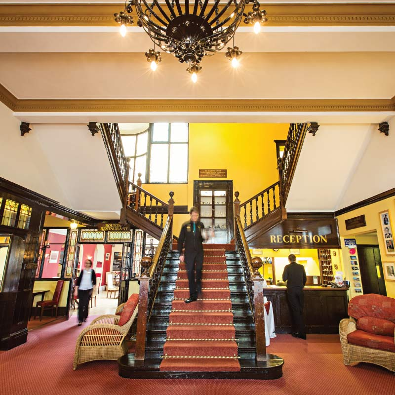 Lobby at the Cliftonville Hotel