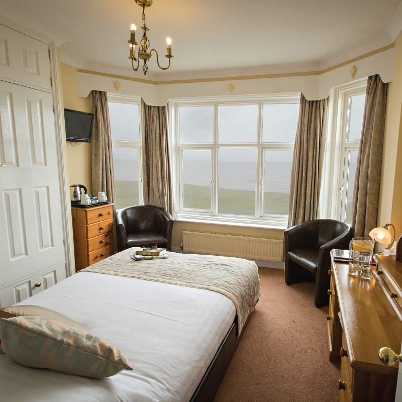 Double room at the Cliftonville Hotel, Cromer, Norfolk