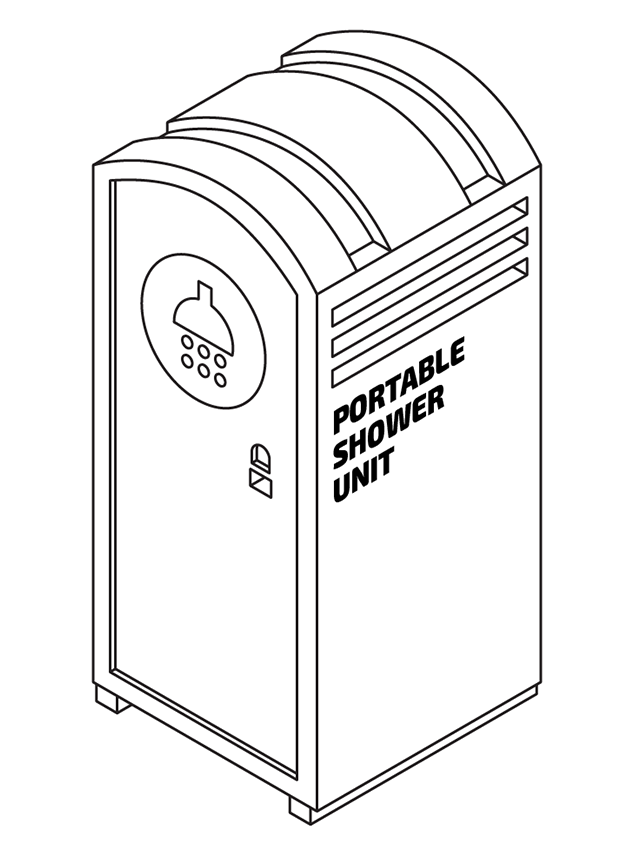 Portable shower unit for hire