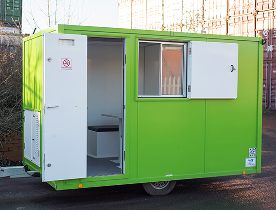 Mobile welfare unit for site hire