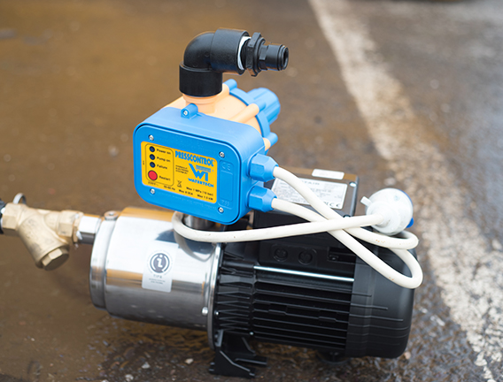 Electric pumps for near mains water pressure