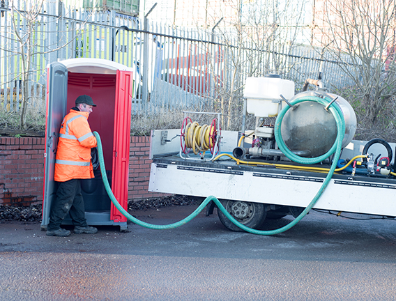 Steam cleaning of your event toilet fleet