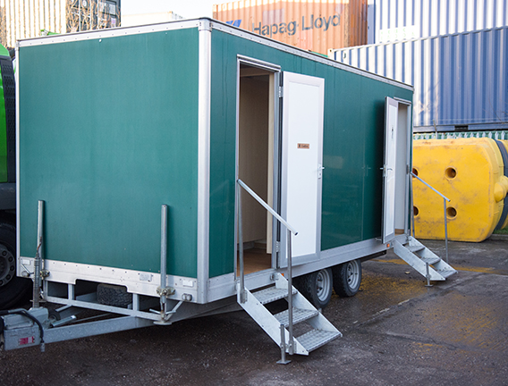 Luxury toilet block for corporate events and weddings