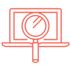 Image of an SEO analyze icon for web design
