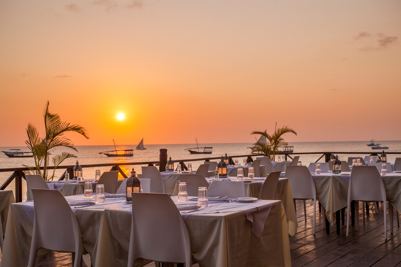 dining at the Z hotel zanzibar