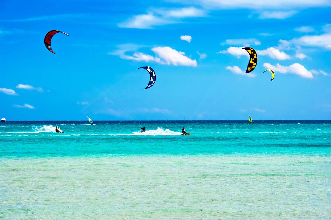 kite surfing in zanzibar at the Z hotel