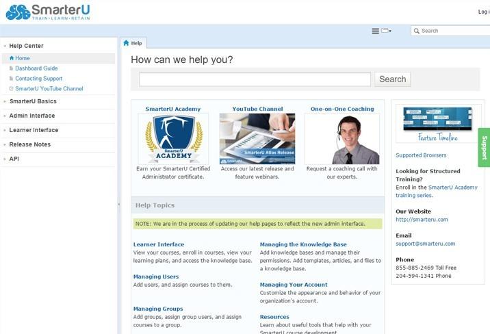 SmarterU Online Help System - SmarterU LMS - Online Training Software