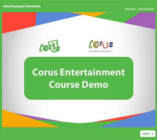 Corus Entertainment Course Demo - SmarterU LMS - Corporate Training