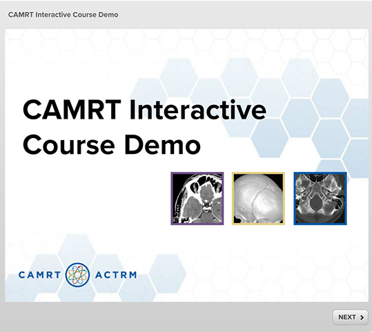 CAMRT Course Demo - SmarterU LMS - Online Training Software