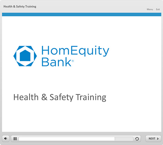HomEquity Bank Course Demo - SmarterU LMS - Blended Learning