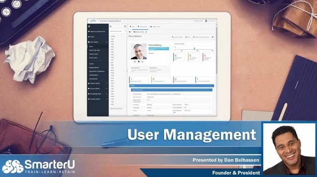 SmarterU LMS User Management - SmarterU LMS - Online Training Software