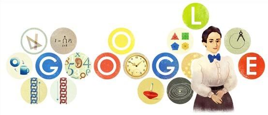 Google Doodle - Emmy Noether - SmarterU LMS - Learning Management System