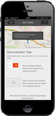 Marketing Execution Demonstration Task on an iPhone