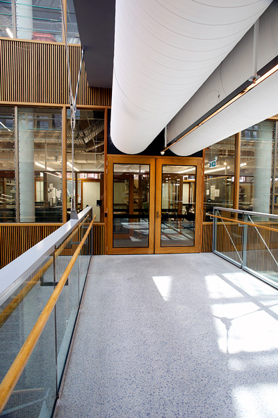 Advanced Engineering Building, University of Queensland by Darra Joinery. Custom Commercial Joinery