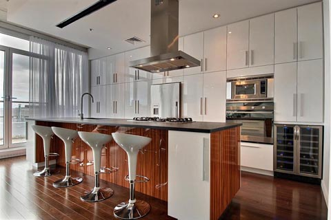 Armoires de cuisine armoire cuisine merisier plus - Armoire de cuisine blanche ...