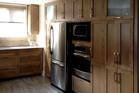 Cuisine merisier moderne meuble moderne pas cher luxe rangement cuisine meuble unique i pinimg - Meuble shaker ...