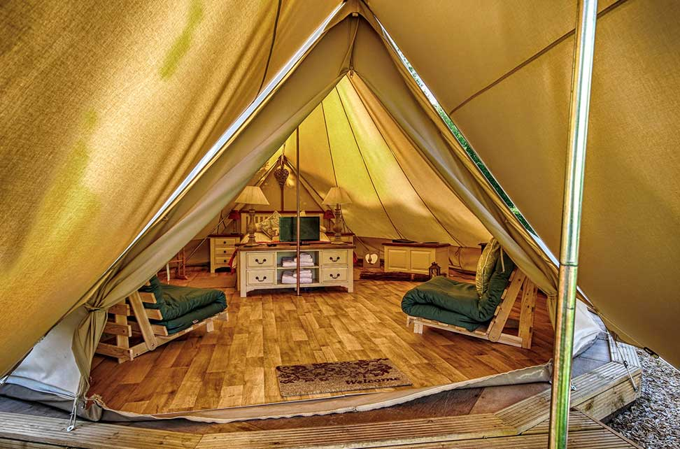 Bell Tent Glamping Norfolk Campsite Woodland Quiet
