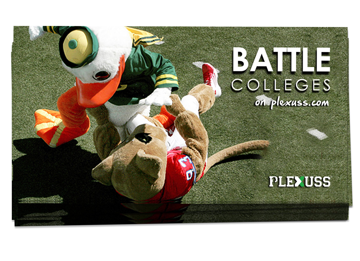 plexuss battle colleges postcard