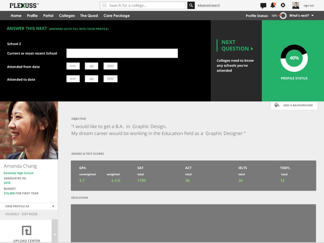 plexuss complete profile