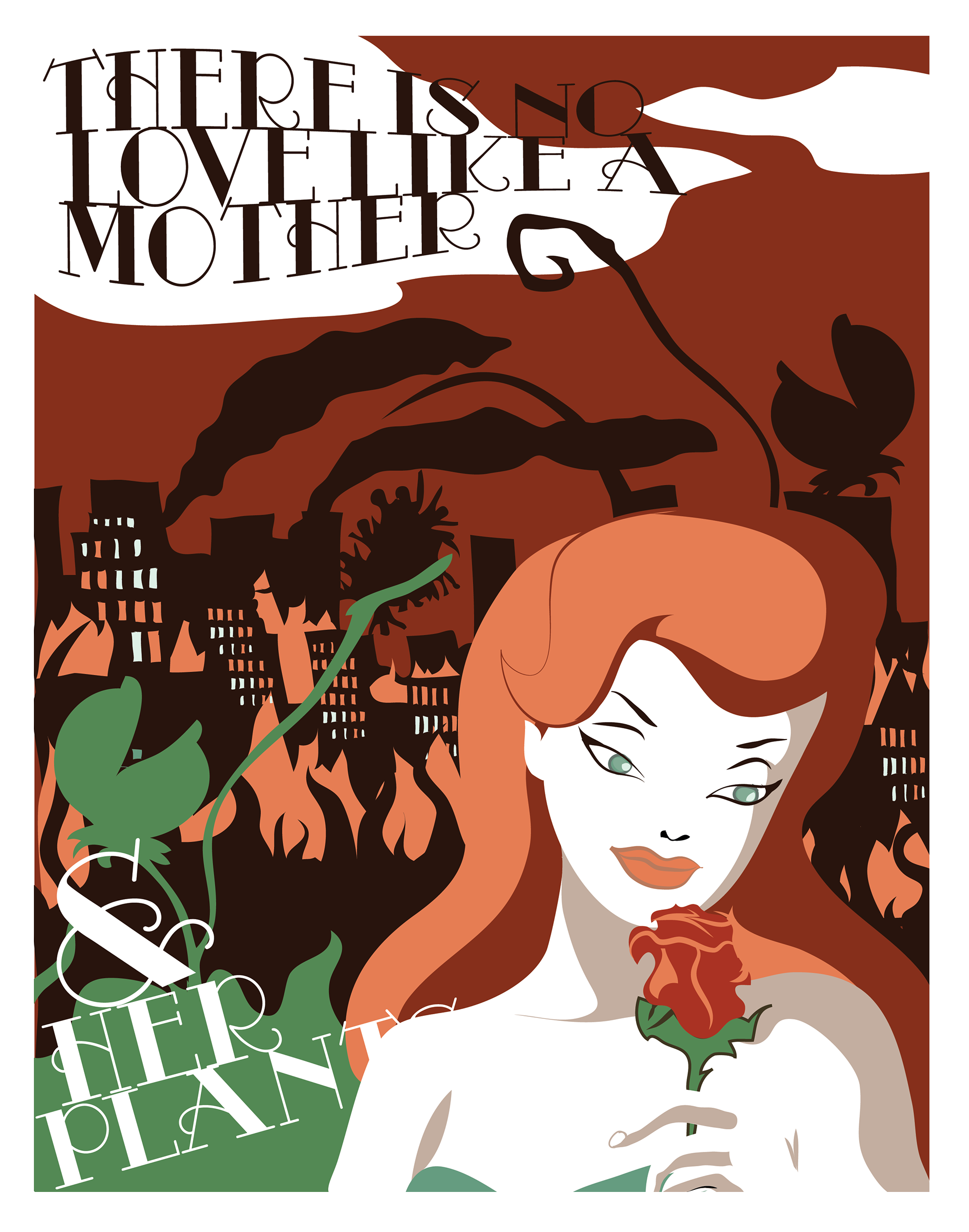 digital illustration of poison ivy