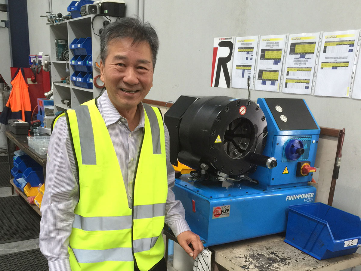 Richard Hong at Total Rubber workshop