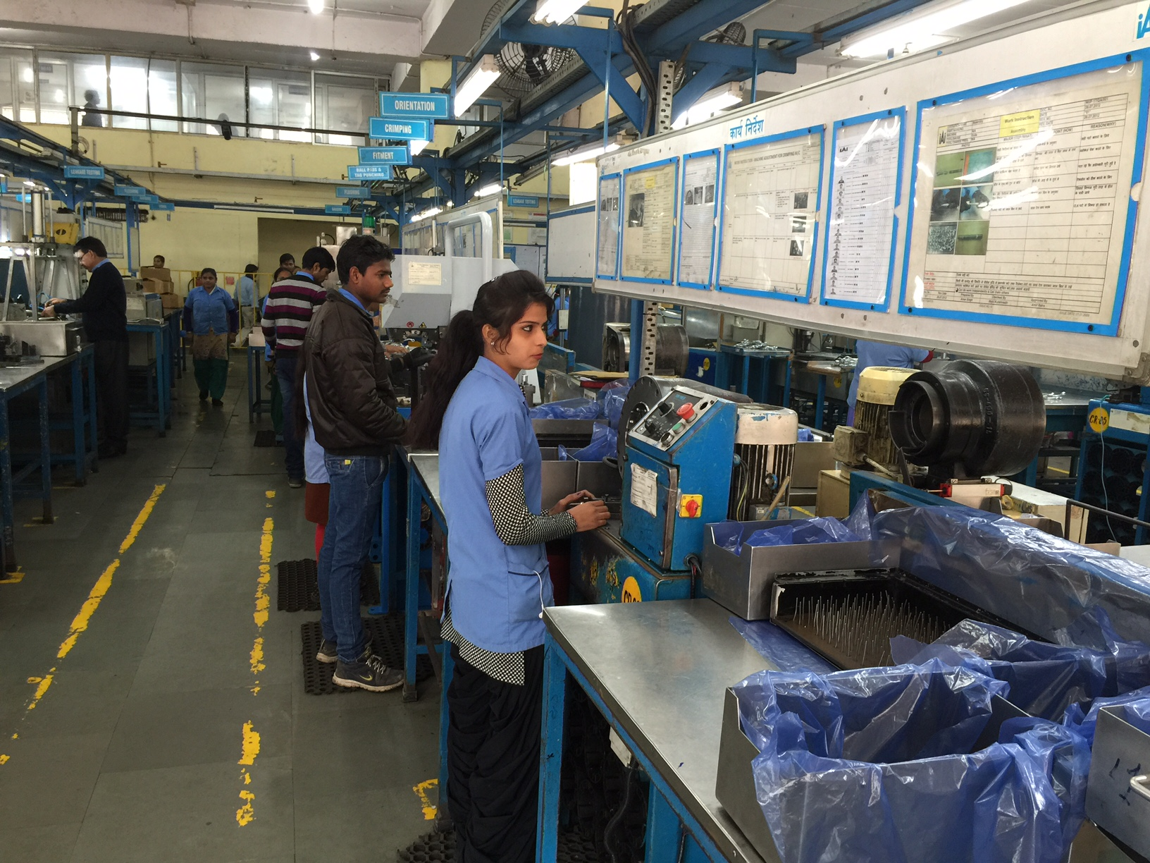 Car parts manufacuring at northern India