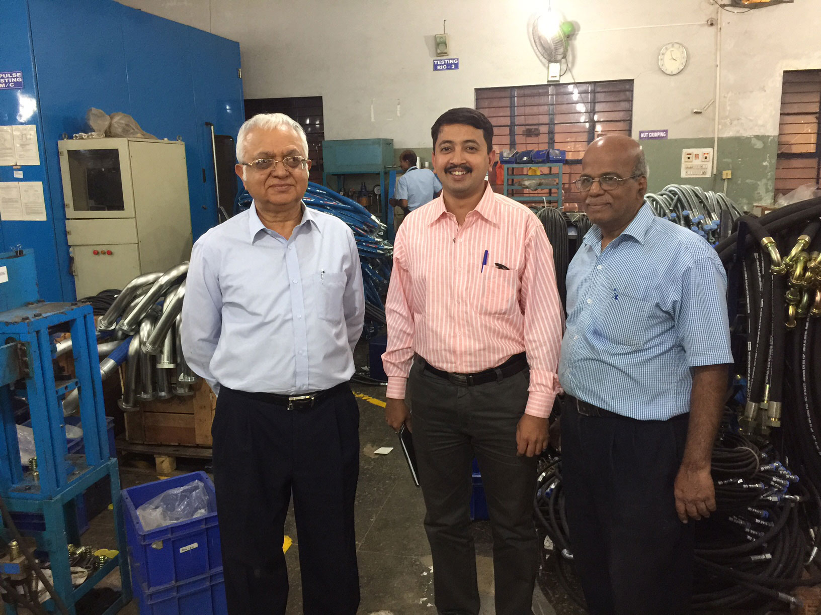 Mr.Ashish on customer visit