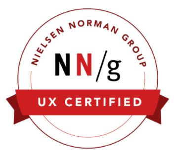 UXC# 1017043 - UX Certification Badge from Nielsen Norman Group