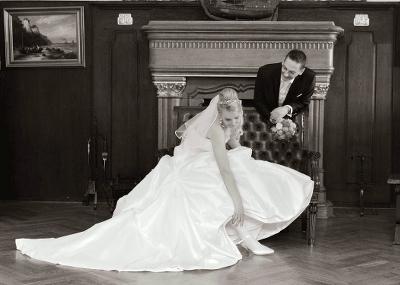 Hochzeitspaar im Schloss Ralswiek- Hochzeitsfotografie