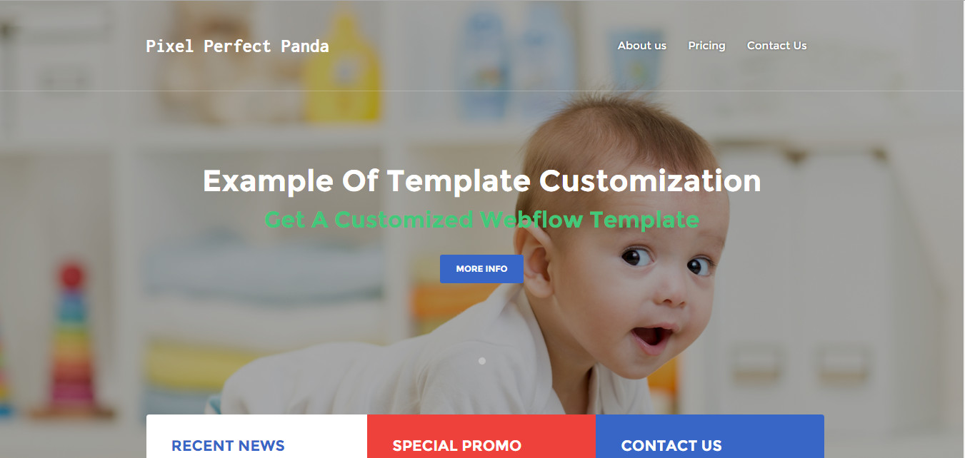 customized webflow template