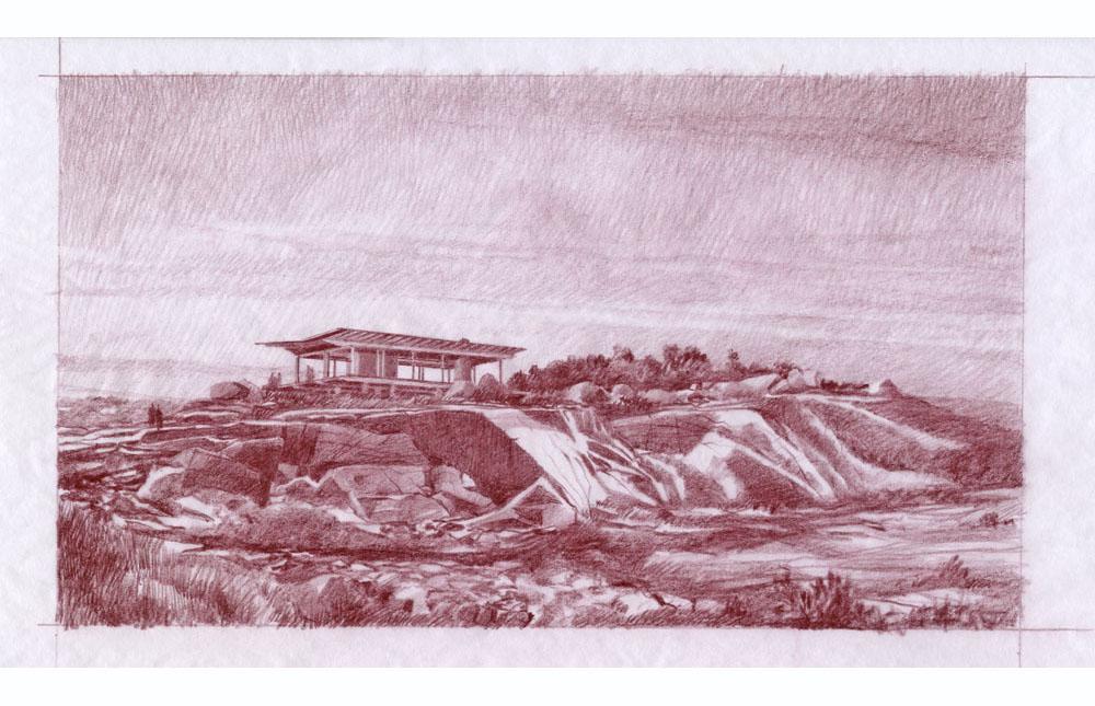 Sketch of Modern Pavilion, Gloucester, MA