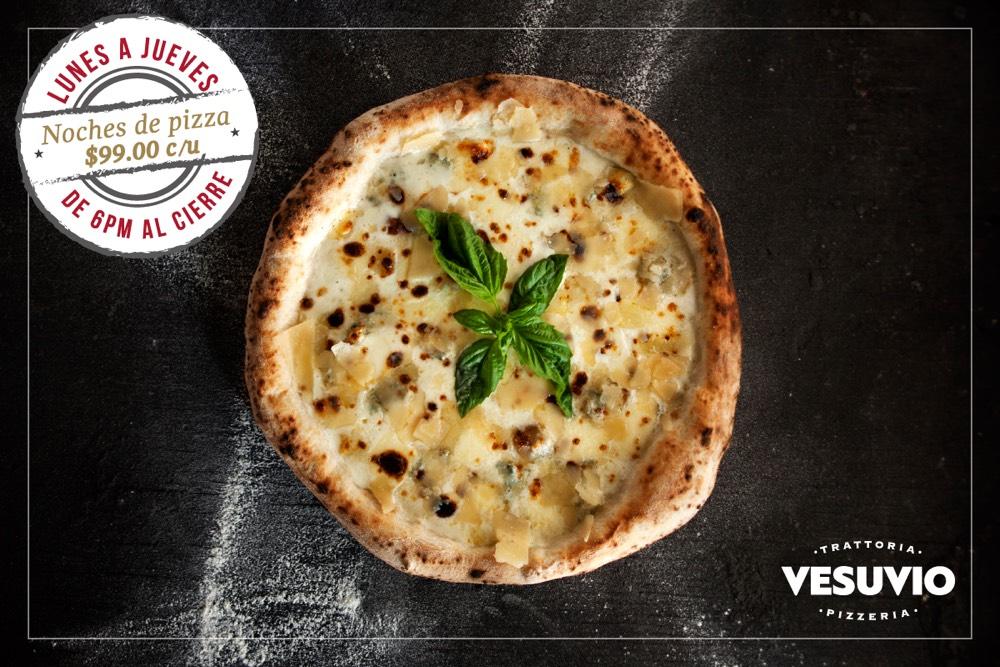 Noches de Pizza de lunes a jueves