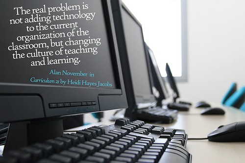 Quote on computer screen
