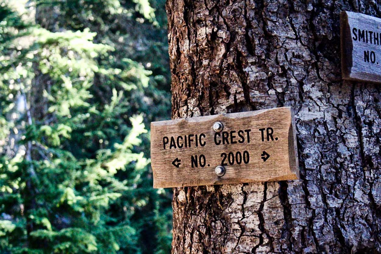 Uphill Designs photo essay - Pacific Crest Trail sign