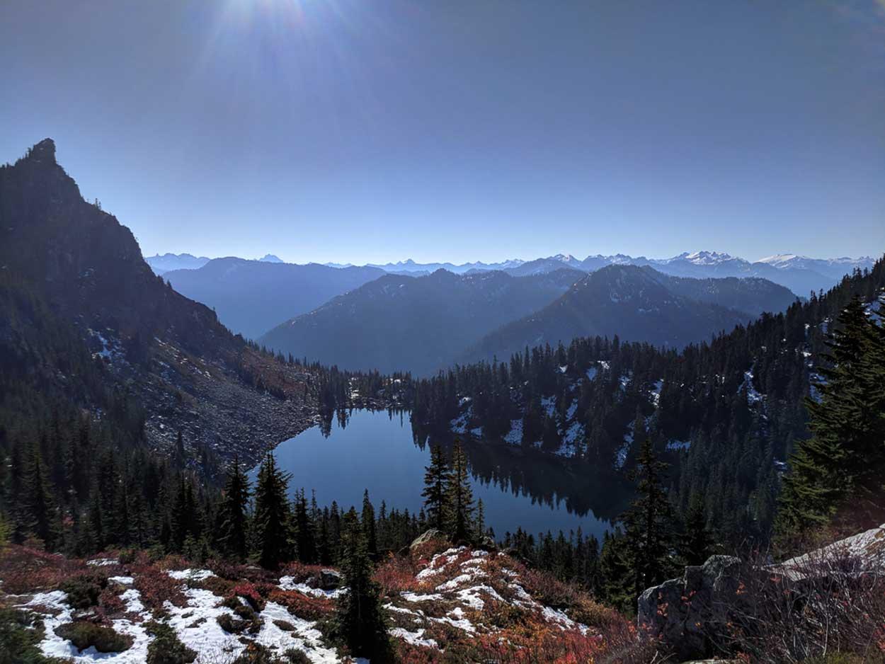 Lake Valhalla from Mount McCausland