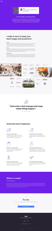 Large: landing page