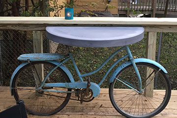 table made from a bike