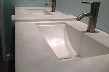 Santana Matlock's custom bathroom sink
