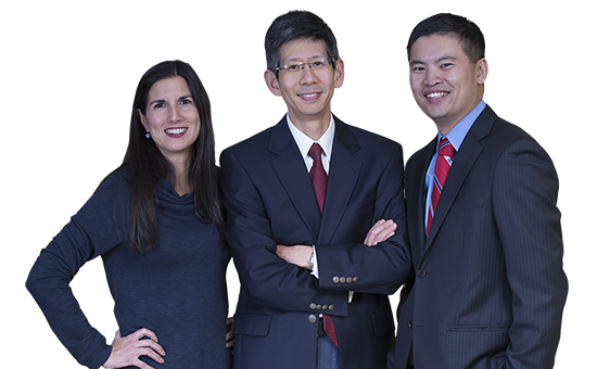 Dr. Shore, Dr. Shen, Dr. Lin of Precision Surgical Specialists of Lowell