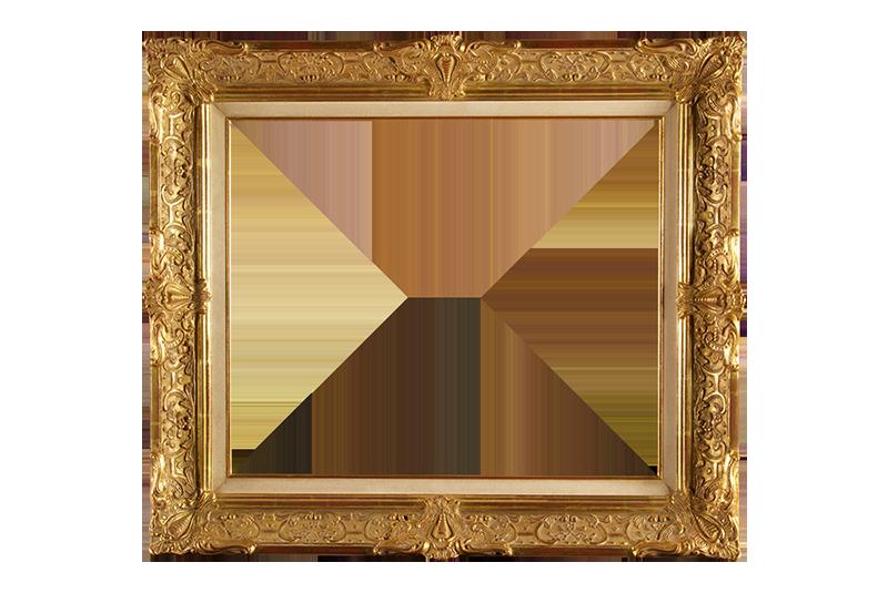 italiaans ornament goud op ivoor lijst